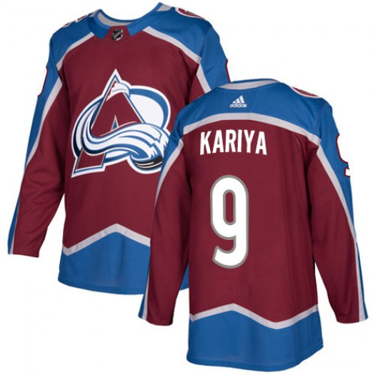 Paul Kariya Colorado Avalanche Youth Adidas Authentic Red Burgundy Home Jersey