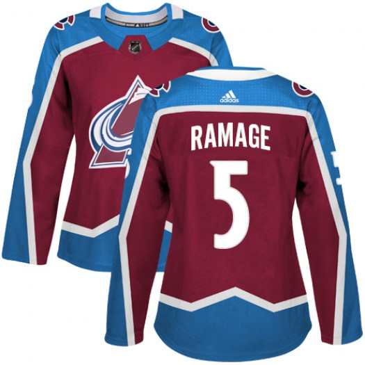 Rob Ramage Colorado Avalanche Women's Adidas Authentic Red Burgundy Home Jersey