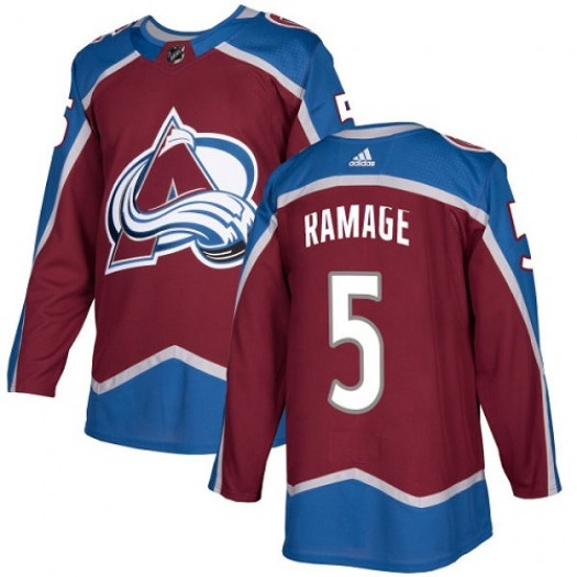 Rob Ramage Colorado Avalanche Youth Adidas Authentic Red Burgundy Home Jersey