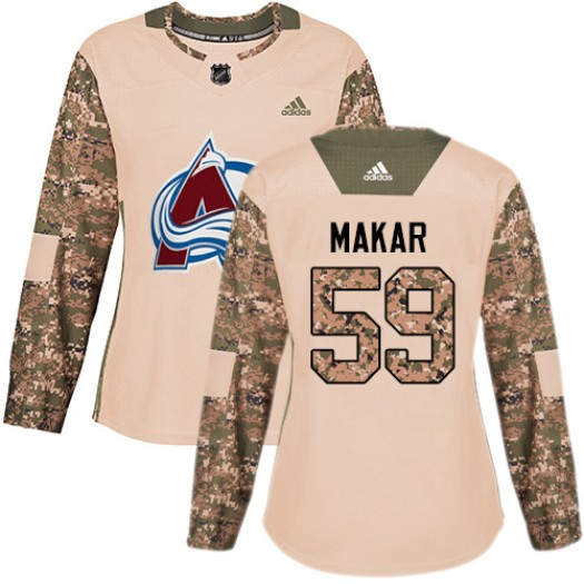 Cale Makar Colorado Avalanche Women's Adidas Authentic Camo Veterans Day Practice Jersey