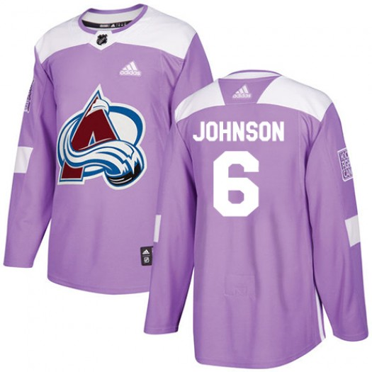 Erik Johnson Colorado Avalanche Men's Adidas Authentic Purple Fights Cancer Practice Jersey